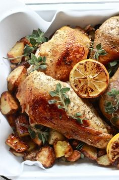 Greek chicken with lemon + oregano RHS