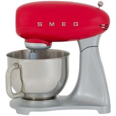 Smeg 50's Retro Stand Mixer. Perfect statement piece to style your kitchen. Comes with 3 Years Warranty.