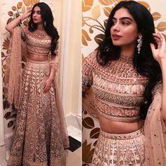 Best 55 Celebrity Lehenga Choli Looks of 2019 - Top Bollywood Lehenga Inspiration Indian Gowns Dresses, Indian Fashion Dresses, Dress Indian Style, Indian Designer Outfits, Designer Dresses, Bollywood Lehenga, Bollywood Dress, Lehenga Top, Lehenga Style