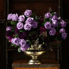 Lavender tones will be a huge trend for 2020 weddings & interior design. Applause Roses are famous for being the first naturally violet-blue rose, created by the expert flower breeders at Suntory after many years of hard work.   Designs by John Regan MFA PHD