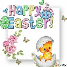 We have 50 happy easter gifs that you will really love! Happy Easter Gif, Happy Easter Wallpaper, Holiday Wallpaper, Valentine Crafts, Easter Crafts, Gif Greetings, Easter Cards Religious, Just Magic, Easter Wishes