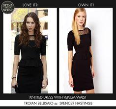 Spencer_Hastings Karen Millen Dress #prettylittleliars #pll #spencerhastings #troianbellisario #stealtheirstyle http://stealtheirstyle.com/r/prettylittleliars