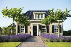 nl # rural-gardens # rural-garden-with-classical-outdoor-space-in-elspeet. Farm Gardens, Outdoor Gardens, Lavender Garden, Classic Garden, Garden Landscape Design, Fenced In Yard, Facade House, Backyard Landscaping, Land Scape