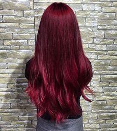 2019 En Tutkulu 35 Kızıl Saç Renkleri - Dark Red Hair Color Ideas – Colors Colors… Imágenes efectivas que le proporcionamos sobre healt - Burgundy Red Hair, Bright Red Hair, Burgundy Colour, Red Colour, Purple Hair, Grey Hair Wig, Ombre Hair, Brown Hair, Pretty Hairstyles