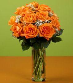 Orange floral arrangement