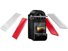 Cafeteira Expresso 19 Bar Nespresso Pixie Clips - Branco e coral com as melhores condições você encontra no Magazine Raimundogarcia. Confira!