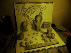 Impressionantes desenhos em 3D