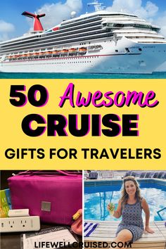 A perfect gift list for cruisers. From cruise essentials to practical travel gadgets, this ultimate cruise gift list has 50 favorites for any cruise travel lover! Items all on Amazon for easy online shopping for the holidays and anytime!