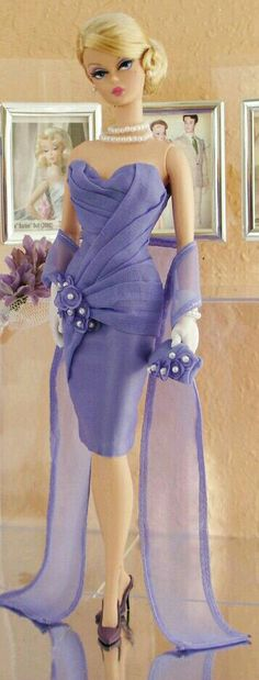 BArbie in purple Dress