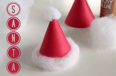 Santa Hat Kids Craft makeandtakes.com