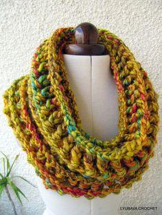 Crochet Scarf PATTERN Unique Crochet Scarf With por LyubavaCrochet