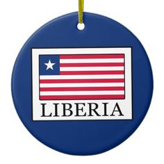 Liberia Ceramic Ornament