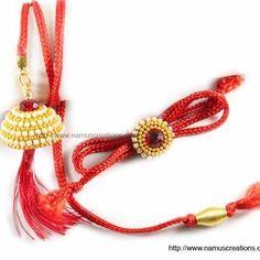 Handmade Couple Rakhi....www.namuscreations.com