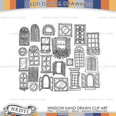 Deur venster Doodle Clip Art Set Hand getrokken en design door Nedti  YOU WILL RECEIVE: Total 23 illustraties in PNG-formaat (1 zip-bestand) CLIP ART grootte: ca. 12 x 12 duim (grootste) ca. 5 x 5 inch (kleinste)  OPMERKING: * Geen watermerk * Hoge resolutie van 300 dpi * Afbeelding kleiner formaat kan worden gewijzigd * INSTANT downloaden na betaling * Afbeelding in beelden getoond manier kleinere formaat wordt gewijzigd * Alle PNGs met transparante achtergrond in zwarte kleur lijn * Wijten…