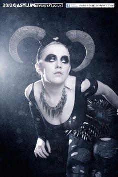 Ram Horn Headdress - No Swarovski crystals - Goth Couture by LivVFree