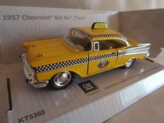 "1957 chevrolet bel air yellow taxi die cast #model 5"" #kinsmart #collectable new, View more on the LINK: http://www.zeppy.io/product/gb/2/301859707788/"