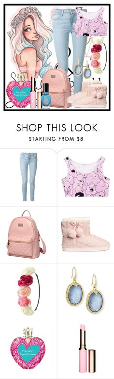 """Anime"" by deedee-pekarik ❤ liked on Polyvore featuring ASOS, Frame, Princess Carousel, H&M, Charlotte Russe, Armenta, Clarins, Sally Hansen, Pink and Blue"