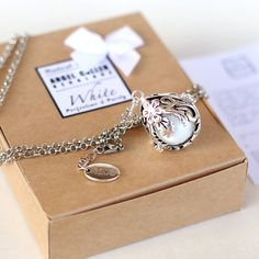 Maternity necklace Pregnancy necklace CALLER ANGEL by petitesalu, $45.00