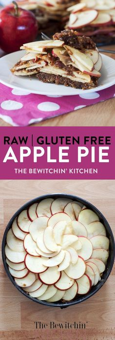 Raw Apple Pie - a healthy twist to add to your desserts board. This recipe uses dates and figs as the crust which makes this dessert recipe gluten free refined sugar free vegetarian vegan and paleo. Dessert Sans Gluten, Gluten Free Desserts, Gluten Free Recipes, Dessert Recipes, Dessert Dips, Healthier Desserts, Whole30 Recipes, Paleo Dessert, Sweet Desserts