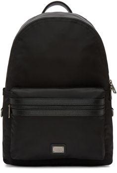 a023a0c24ed DOLCE & GABBANA Black Nylon Backpack. #dolcegabbana #bags #leather  #lining