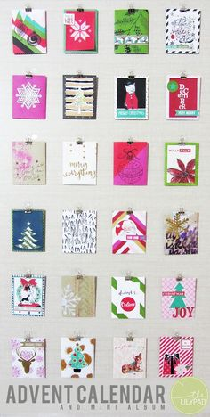 Document Your December Advent Calendar and Mini Album at The Lilypad by Sarah