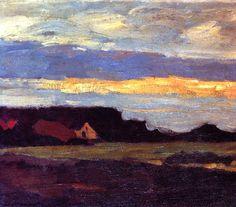 Landscape in Holland, Piet Mondrian
