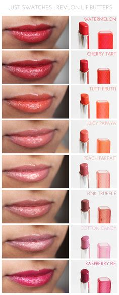 Just Swatches : Revlon Lip Butters