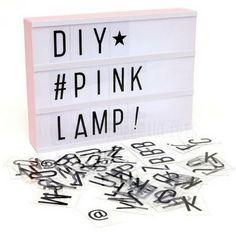 LOVELY Lightbox - Letter Lichtbak A4 in Pink + GRATIS Adapter 9V