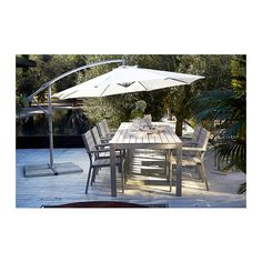 IKEA FALSTER table, outdoor The polystyrene slats are weather-resistant and easy to care for.