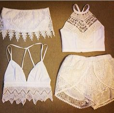 White and crochet pieces are absolutely lovely for summer!