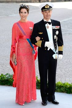 Princess Mary of Denmark and Crown Prince Frederik of Denmark attend the Royal wedding in Stockholm, Sweden