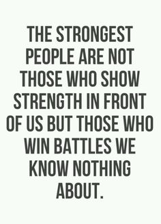 The strongest people...