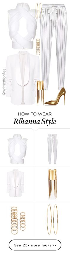 """Lines"" by highfashionfiles Komplette Outfits, White Outfits, Classy Outfits, Fashion Outfits, Womens Fashion, Fashion Trends, Mode Chic, Mode Style, Elegante Y Chic"