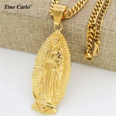 20 authentic blessed miraculous medal italian cross gold tino carlo quality virgin mary full length portrait pendant necklace men hip hop gold plated aloadofball Choice Image