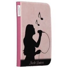 Female Singer Pink Personal Kindle Case Female Singer Pink Personal Kindle Case by LwoodMusic Look at more Sing Caseable Cases at zazzle
