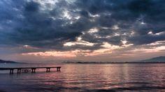 26 Oct. 6:15 薄明(dawn)の博多湾です。 ( Morning Now at Hakata bay in Zipangu )