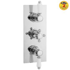 Traditional Triple Concealed Thermostatic Shower Valve with Diverter 3 Outlet Option - Image 1