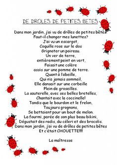 La classe de Corinne - Vogue Uk, Spring Poem, Simple Poems, Grade 2 Science, French Poems, French Resources, French Class, Carol Lyrics, Kids Songs