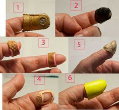chamoisthimble2 | Sewing by Hand Mending and Kits | Pinterest ... : hand quilting thimbles - Adamdwight.com