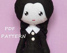 Patrón de costura PDF para hacer fieltro muñeca inspirada en jazmín. por Kosucas