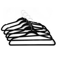 Stock up on Seville Classics' premium black velvet hangers that pamper your…