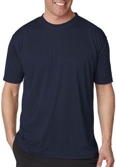 ultraclub(R) men's cool & dry sport performance interlock tee - navy (6xl)