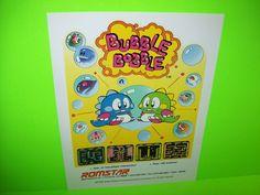 Romstar BUBBLE BOBBLE Original 1986 NOS Retro Video Arcade Game Promo Flyer Rare #Romstar