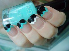 Silvia Lace Nails: Tape French  #nail #nails #nailart