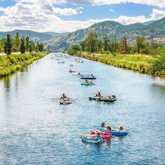 Did you know you can float down the Penticton river channel for free every summer? From mid-June to mid-September, you can grab a floatie and enjoy the 7-km stretch of pure relaxation.