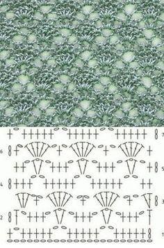 Lace Crochet Stitch Diagram - Knitting Bee // Galina Sapegin Source by Crochet Stitches Chart, Crochet Motifs, Crochet Diagram, Tunisian Crochet, Knitting Stitches, Crochet Lace, Knitting Patterns, Crochet Patterns, Doilies Crochet