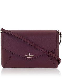 wine coloured purse | kate spade