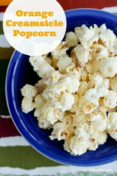 Orange Creamsicle Popcorn offers a sweet twist on a classic snack. Orange and vanilla make the popcorn extra special. Spicy Popcorn, Flavored Popcorn, Gourmet Popcorn, Popcorn Recipes, Snack Recipes, Popcorn Snacks, Popcorn Kernels, Pop Popcorn, Orange Creamsicle