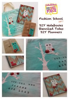 Mod Podge Notebooks and tote bag for Back to School.