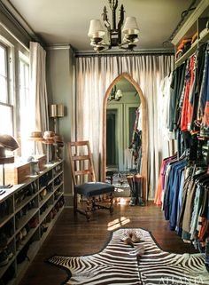 gold and gray: spring cleaning - closets